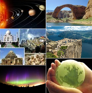 Collage image of Natural Wonders of World