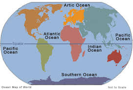 Locations of the Main Oceans Around the World - Science for Kids All About Oceans of the World