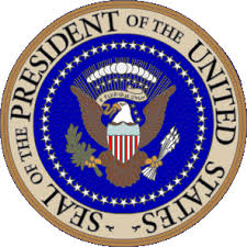 Seal of the USA President with the Bald Eagle Image