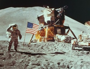 Neil Armstrong on the Moon Image