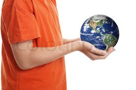 Kid Holding the Earth Image - Science for Kids All About Caring for Our World