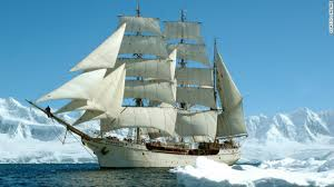 Ship in the Icy Waters Image