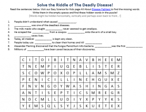Download the FREE Disease Fighters Worksheet for Kids!