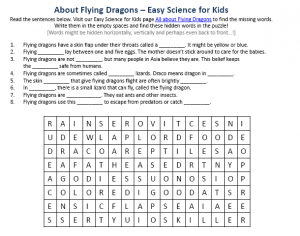 Download the FREE Flying Dragons Worksheet for Kids!