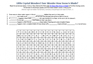 Download our FREE How Snow is Made Worksheet for Kids!
