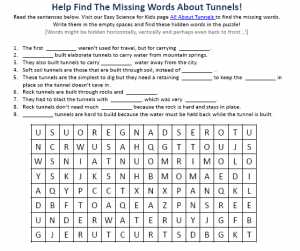 Download the Tunnel Science Worksheet!