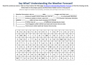 Download the FREE Weather Forecasting Activity Sheet for Kids!
