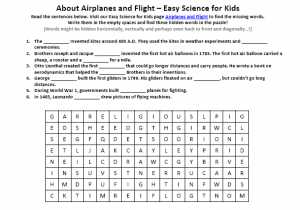 Download the FREE Airplanes and Flight Words Game!