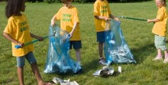 All about Conservation Fun Earth Science Facts for Kids - Kids Practicing Conservation by Picking Up Trash
