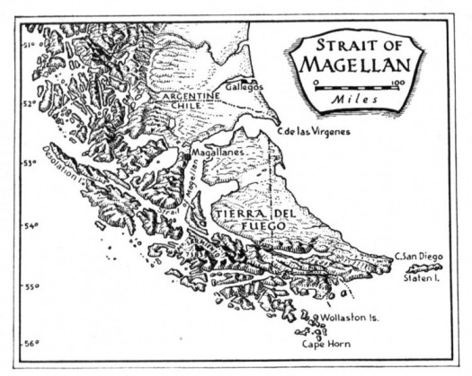 All about Ferdinand Magellan Fun Science Facts for Kids - an Image of the Strait of Magellan