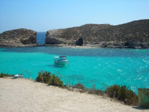 All about Malta Fun Earth Science Facts for Kids - Image of the Blue Lagoon in Malta