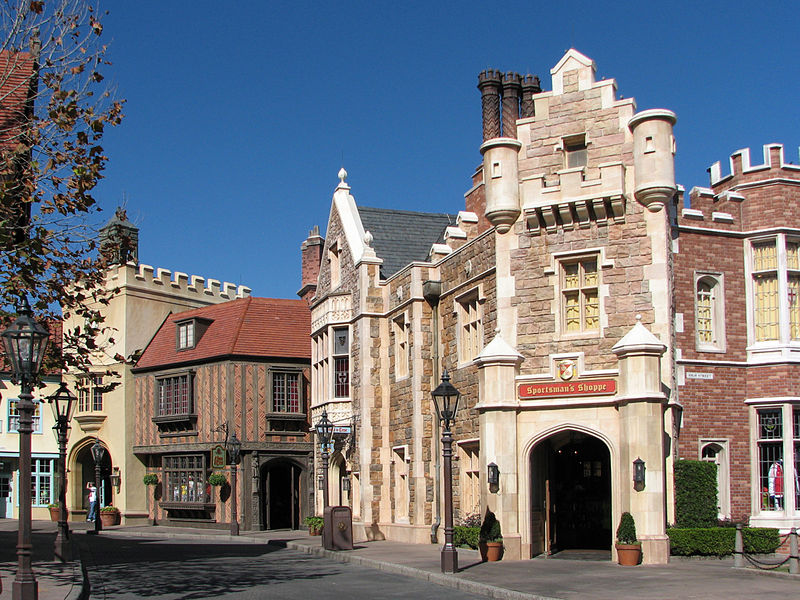All about the United Kingdom for Kids - Image of the United Kingdom Street at Epcot