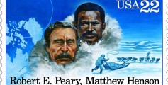 Easy Geography for Kids on Matthew Henson - the Peary and Henson USA Stamp