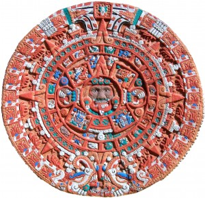 Easy Science for Kids at Home All about Ancient and Modern Calendars - Image of an Ancient Calendar of Aztecs