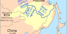 Easy Science for Kids on the Top 10 Longest Rivers - Map of the Amur-Argun River image
