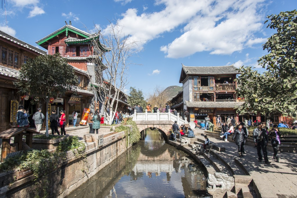 Fun Earth Science for Kids on Old Town Lijiang - Image of the Old Town in Lijiang