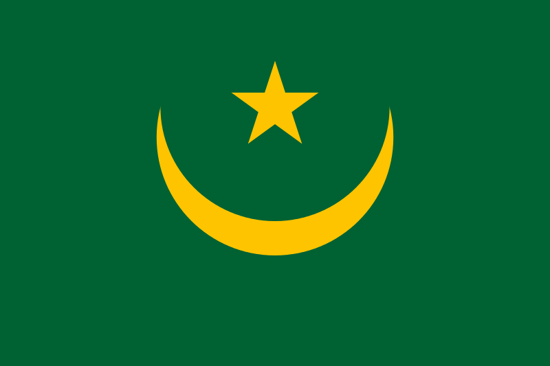 Fun Facts for Kids all about Mauritania - National Flag of Mauritania