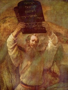 Fun Facts for Kids All About Religions of the World - an Illustration of Moses with the Ten Commandments by Rembrandt