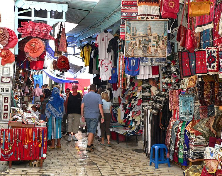 Fun Facts for Kids on Tunisia - Image of a Souk in Tunisia