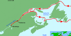 Fun Geography for Kids on Jacques Cartier - Route of Jacques Cartier's Second Voyage