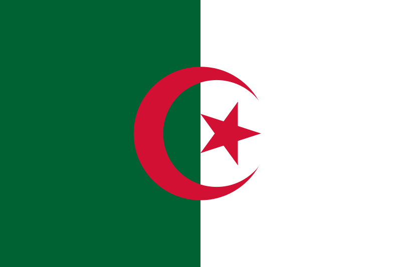 Geography Fun Facts for Kids on Algeria - National Flag of Algeria