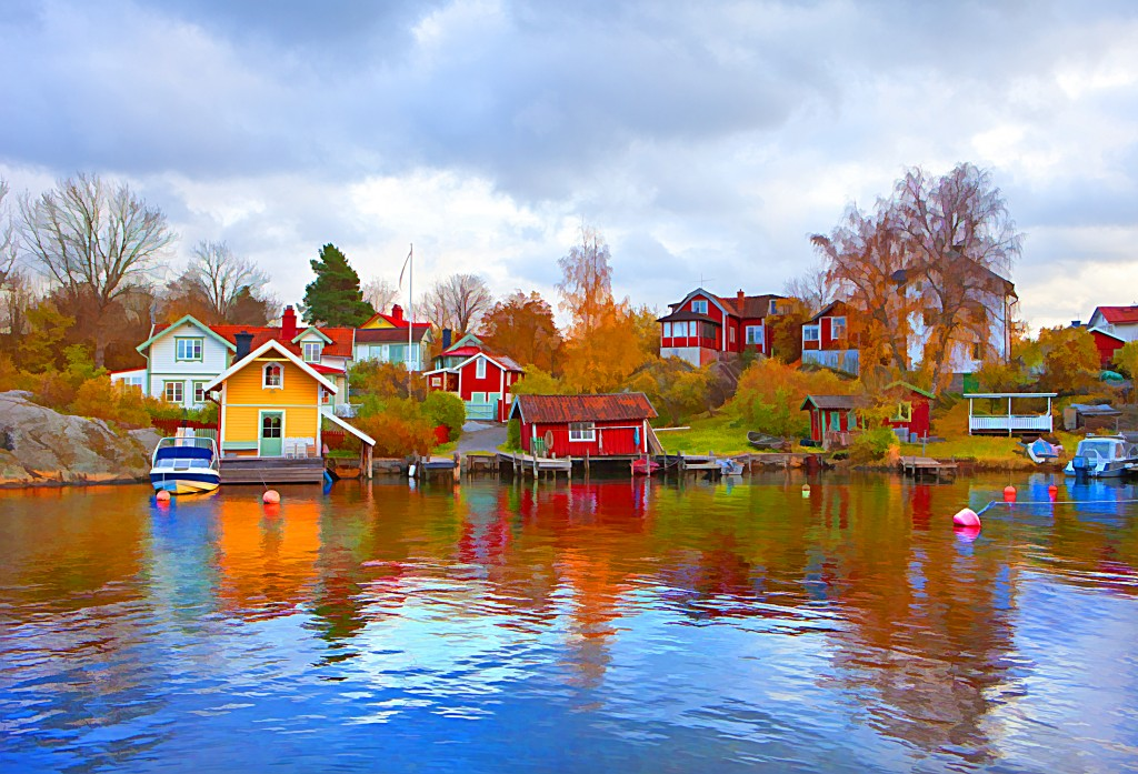 Kids Science Fun Facts on Sweden - Image of Waterfronts in Sweden