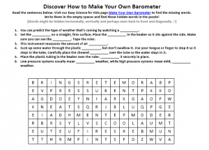 Download the FREE Making a Barometer Worksheet!