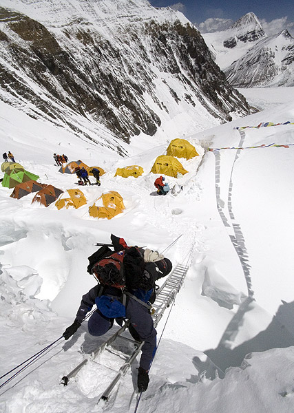 All About Mount Everest Fun Facts for Kids - Image of a Man Climbing the Mount Everest