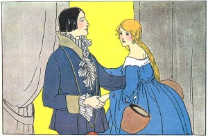 All about the Clever Girl an Italian Folk Story for Kids - Image of the King telling the Clever Girl to Leave