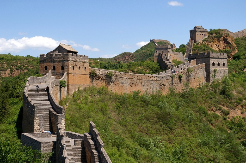 Easy Geography for Kids on the Man-made Wonders of the World - Image of the Great Wall of China