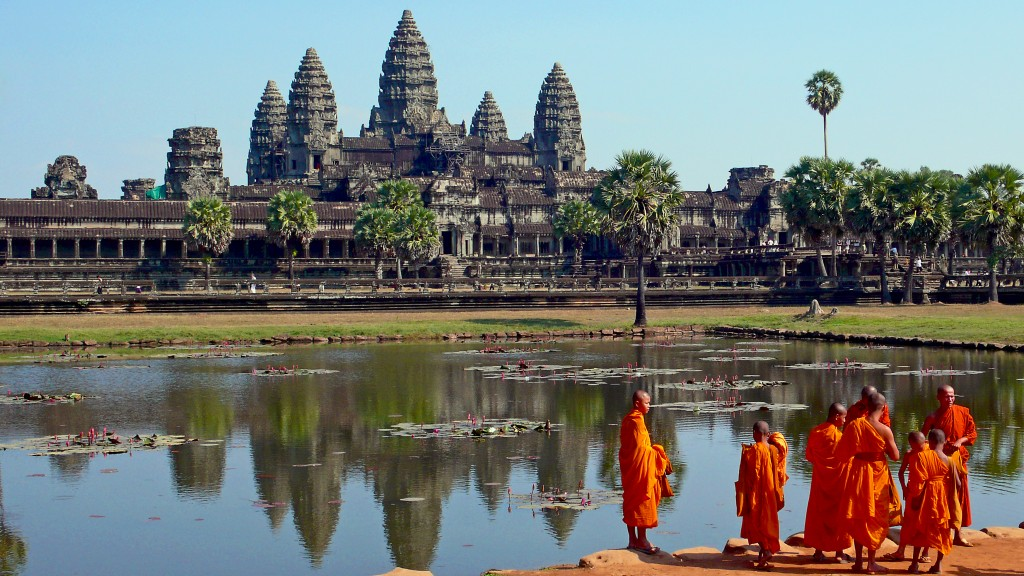 Easy Science for Kids on the Man-made Wonders of the World - Image of the Angkor Wat in Cambodia