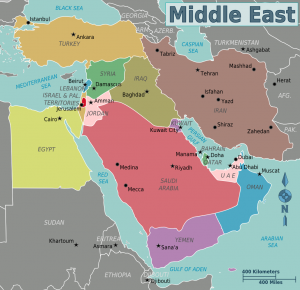 Fun Facts for Kids All About the Middle East - Map of the Middle East