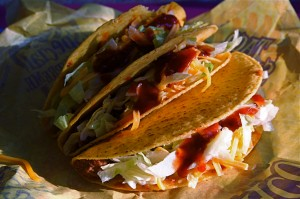 Fun Science for Kids about Fast Food Information - Image of Taco Bell Tacos Stacked Together