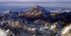 Geography for Kids on Argentina Facts - Aerial View of Aconcagua Peak