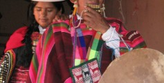 Geography for Kids on Bolivia Facts - Image of People in a Festival at Sucre, Bolivia