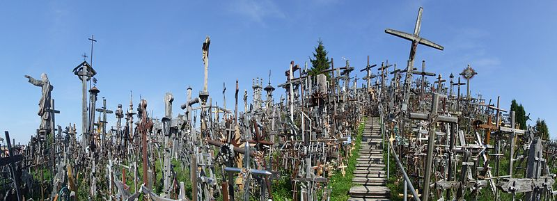 Geography for Kids all about the Hill of Crosses - General View of the Hill of Crosses