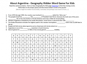 Download our FREE Argentina Worksheet for Kids!