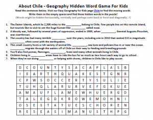 Download our FREE Chile Worksheet for Kids!