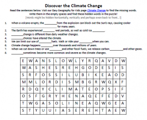 Download our FREE Climate Change Worksheet for Kids!