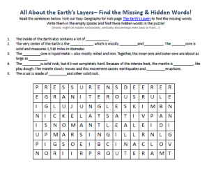 Download our FREE Earth's Layers Worksheet for Kids!