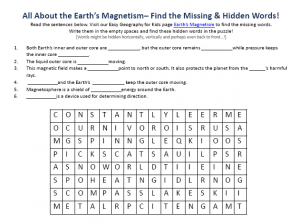 Download our FREE Earth's Magnetism Worksheet for Kids!