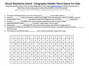 Download our FREE Elephanta Island Worksheet for Kids!