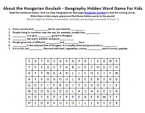 Download our FREE Hungarian Goulash Worksheet for Kids!