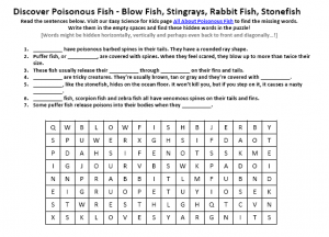 Download our FREE Poisonous Fish Worksheet for Kids!