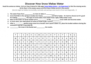Download our FREE Snow Makes Water Worksheet for Kids!