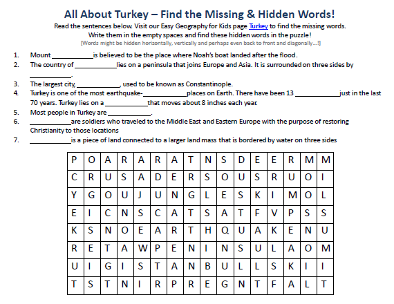 Download our FREE Turkey Worksheet for Kids!