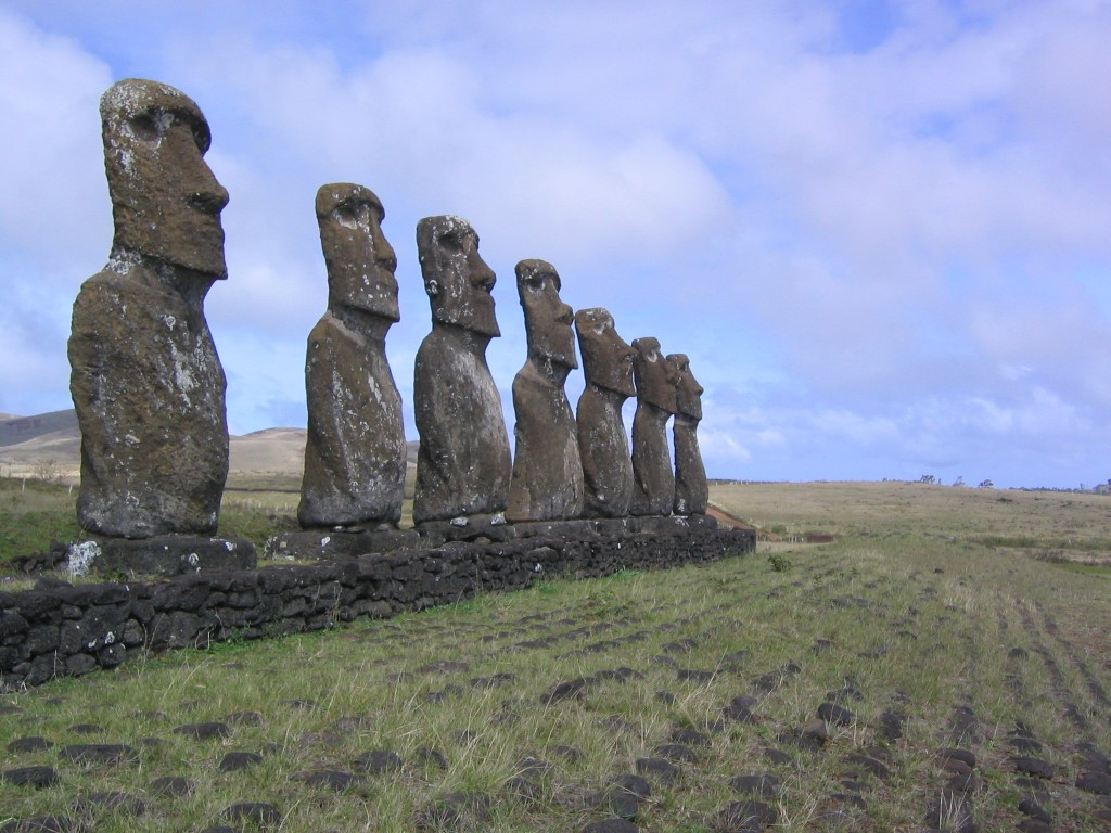 Kids Science Fun Facts on the Man-made Wonders of the World - Image of Easter Island in Chile
