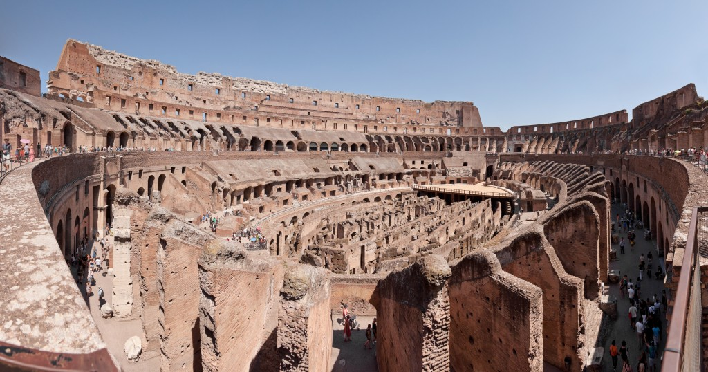Simple Science for Kids on the Man-made Wonders of the World - Image of the Colosseum in Italy