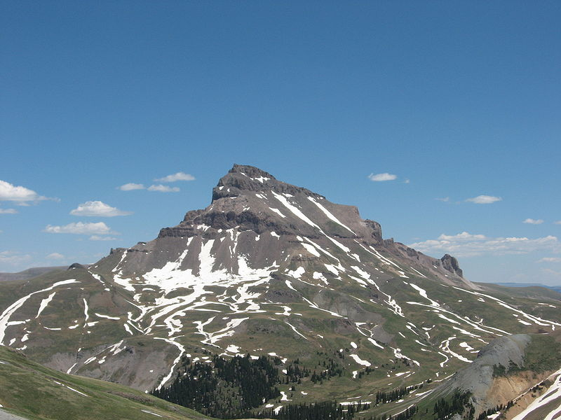 Uncompahgre Peak in the Rocky Mountains of Colorado