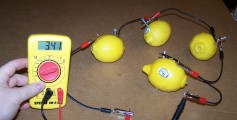 Image of a Lemons Making an Electrical Circuit